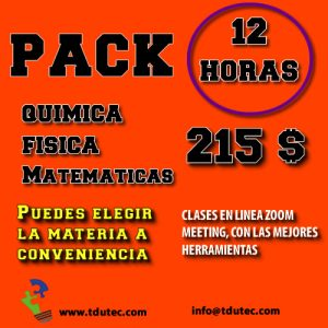 Pack 12 horas de clases particulares.