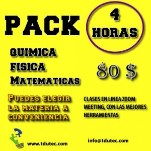 Pack 4 horas de clases particulares.